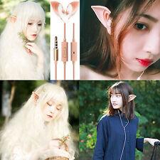 Hot 3.5mm Elf Ears Earphones Cosplay Spirit Fairy HI-FI Earbuds For Phones MP3/4