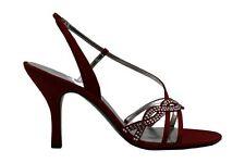 Audrey Brooke Womens Glamra Fabric Open Toe SlingBack Classic, Red, Size 12.0