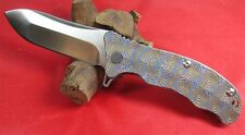 New Design TC4 Titanium Ball Bearings D2 Fast Open Pocket Folding Knife TS72Eye