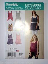 Simplicity Pattern S0570 Misses' Loose-Fitting Mini Dress Tunic Hemline XXS-XXL