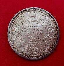 MONNAIE ARGENT 1 RUPEE  INDIA 1915 GEORGE V  KING & EMPEROR ANCIENNE