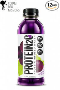 Protein2o Low-Calorie Protein Infused Water, 15g Whey Isolate, Harvest Grape...