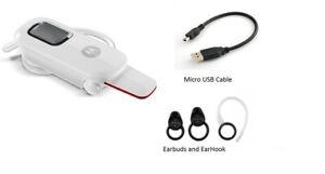 White Motorola Hx550 BOOM music Headset wireless bluetooth auto flip MOTO SPEAK