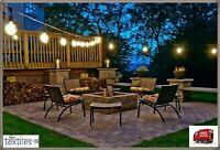 10Pc Solar Powered Retro Bulb String Lights For Garden Outdoor Fairy Summer Lamp