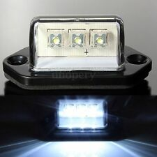 12V 24V 3LED NUMBER REAR LICENSE PLATE LIGHTS LAMP TRUCK TRAILER BOAT WATERPROOF