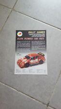 Vintage - Prospectus 4 Pages Modélisme Mantua Rally Games Alfa Romeo 155V6TI