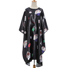 Pro Salon Barber Hair Cut Hairdressing Coloring Poker Pattern Gown Cloth Cape US