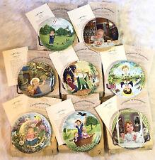 New ListingDavenport Children Collector Poetry Plates Set 8 Bradford Company