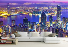3D Purple Light City 8 Wall Paper Murals Wall Print Wall Wallpaper Mural AU Kyra