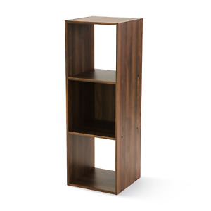 Cube Book Shelf Storage Organizer 3 Shelves Home Office Furniture Bookcases NEW!