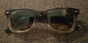 Ray Ban RB 2140 822/N1 Wayfarer Blue Clear Brown Gradient Sunglasses frame only