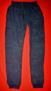 Kenzo Mens Blue Green Pattern Joggers Sweat Pants Tracksuit Bottoms Size XS