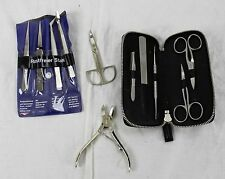 Lot of German Manicure Grooming Kit Tools Nail File Clippers Scissors Rostfreier