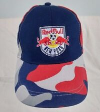 Red Bull New York Bayer Sports Truck Cap Hat Red Blue Grey Adjustable