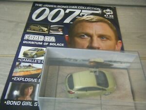 JAMES BOND CAR COLLECTION FORD KA FROM QUANTUM OF SOLACE ISSUE 60+MAGAZINE