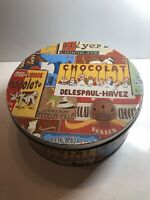 """RARE Vintage Myer's Chocolate Chocolat Metal Collectible Tin Container 9x4"""""""