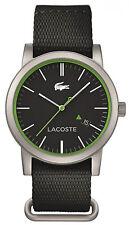 Lacoste 2010836 Metro Black Dial Black Nylon Strap Men's Watch