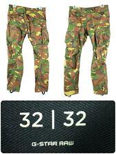 G Star Raw Tapered Combat Cargo Camo Pants Men's W32 L32 - Fast Ship!