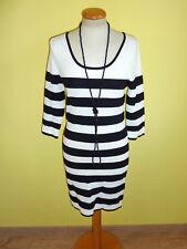 Kleid Mango schwarz weiß gestreift Größe L wie neu