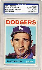 SANDY KOUFAX 1964 Topps #200 AUTOGRAPH PSA/DNA Authentic AUTO SIGNED Dodgers