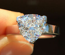 Quality Cz Ring Moissanite Simulant Trillion Vintage Extremely Brilliant Top