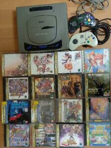 Sega Saturn Console bundle +2 controllers + 16 games SS Japanese ver. from Japan