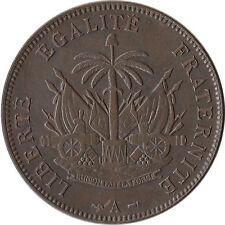 1886 Haiti 2 Centimes Coin KM#49