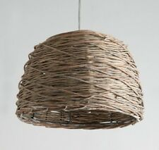 "ROTAN 3038136 Hanging Lamp Light Wicker Basket Weaving BROWN 15 x 10.5"" Rattan"