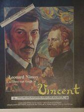"Leonard Nimoy Play Poster NIMOY as Theo van Gogh in VINCENT 1978 Portland 17X22"""