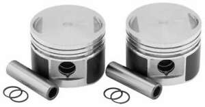 """80"""" Cast Aluminum Pistons Pins Clips +.040 8.5:1 Harley Wide Glide 1984-1986"""