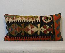 12 x 24 lumbar cushion interior decor lumbar pillow cover kilim pillow cover