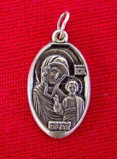 ICON Russian Silver Mother Of God, Old Sterling Pendant Russia