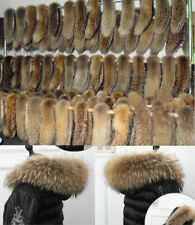 DeVAT Natur Waschbär Kragen Pelzkragen Pelz Fell Echtpelz Raccoon f Jacke Mantel