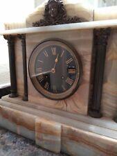 Antique Marble Clock 12x11x4