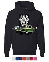 Dodge Green Super Bee Hoodie American Classic Muscle Car Sweatshirt