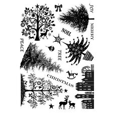 Crafty Individuals Rubber Stamps - Mini Christmas Trees, Reindeer, Tree, Baubles