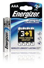4X  Batteria al Litio AAA 1.5 V Ultimate Energizer lunga durata