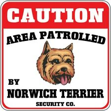Crossing Sign Caution Patrolled Norwich Terrier Dog Security Cross Xing Metal