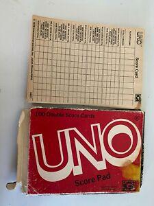 Vintage Uno Score Pad 100 Double score Cards iGi 1978 #4001 opened 89 sheets