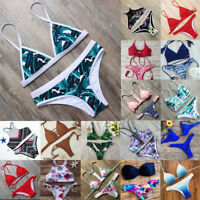 2018 Womens Bandage Bikini Set Push-up Padded Triangle Swimsuit Bathing Swimwear