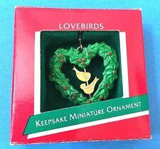 "Hallmark ""Lovebirds"" Miniature Ornament 1989"