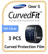 Samsung Galaxy Gear S, CurvedFit Clear LCD Screen Protector Protection 3pcs Film