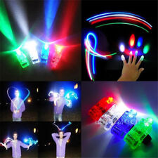10Pcs LED Finger Light Up Ring Laser Rave Dance Party Favors Glow Beams Torch