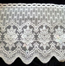 """NEW European French Style FLOWER 24"""" Valance Fabric Lace Curtain Fabric By Yard"""