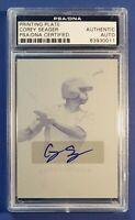 2012 Corey Seager Signed RIZE Draft Yellow Printing Plate PSA/DNA CERT AUTO 1/1