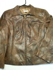 Kim Rogers Petite Snakeskin Full Zip Front Career Jacket Top Size 10P NEW TAGS!