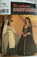 Simplicity 7756 Uncut Ff Sewing Pattern Renaissance Gown Dress Costume