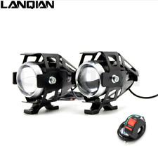 2PCS 125W 3000LMW Moto U5 Headlight LED Fog Lamps Sport light +switch For Honda