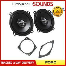 JVC 500 Watts Ford Fiesta MK3 MK4 MK5 13cm Front Door Car Speakers & Adaptor Kit