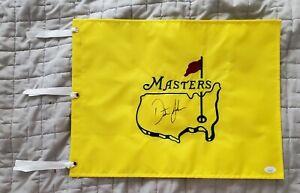 DUSTIN JOHNSON signed Masters pin flag w/JSA LOA